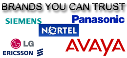 Brands you can trust, avaya, nortel, panasonic, nortel, seimens, lg ericsson